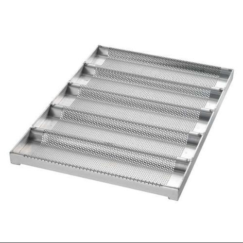 CHICAGO METALLIC 49014 Sub Sandwich Roll Pan, 5 Moulds