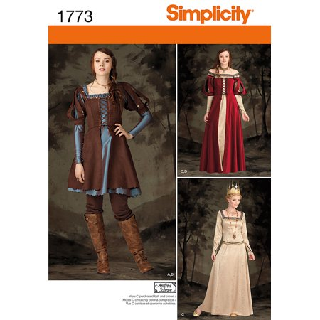 Renaissance Clothing Patterns (Simplicity Misses' Size 14-22 Renaissance Costume Pattern, 1)