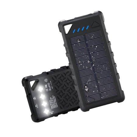 wholesale dealer 2ac46 67eb6 FKANT Waterproof Solar Charger | Portable 16000mAh Dual USB Power Bank |  IPX7...