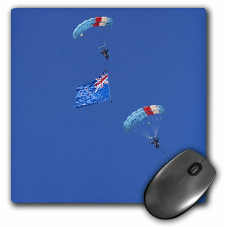 3dRose RNZAF Sky Diving, Warbirds over Wanaka, New Zealand - AU02 DWA7122 - David Wall, Mouse Pad, 8 by 8 inches