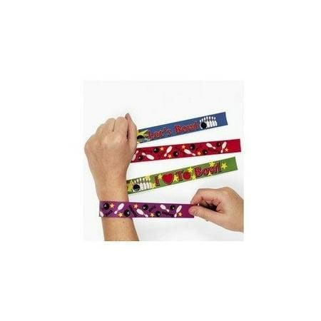 BOWLING SLAP BRACELETS (1 DOZEN) - BULK - 90s Slap Bracelets