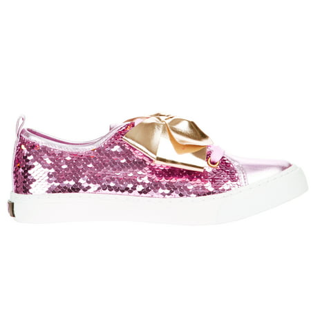 Jojo Siwa Girls' Reverse Sequins Low Top Sneaker - High Top Sparkle Sneakers