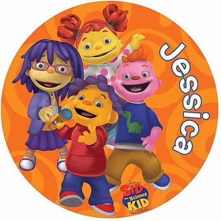Personalized Sid the Science Kid Orange Swirl Round Mouse Pad