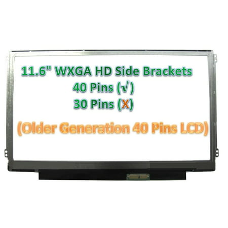 "Refurbished Generic AU Optronics B116XW03 V.1 SIDE BRACKETS Laptop LCD Screen 11.6"" WXGA HD LED ( Compatible Replacement )"