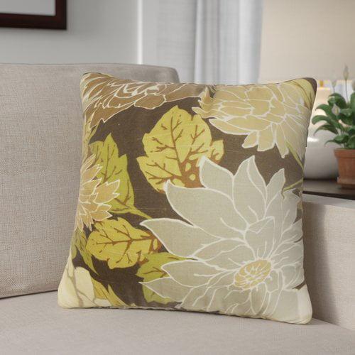 Red Barrel Studio Ashendon Floral Cotton Throw Pillow