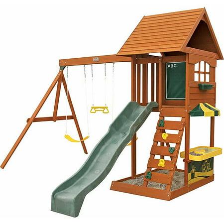 Big Backyard Sandy Cove Wooden Swing Set (Box 3) - Walmart.com