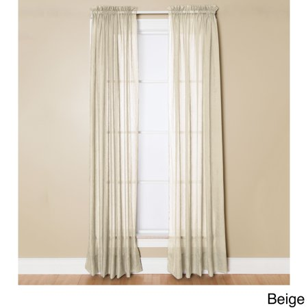 Miller Curtains  Preston Sheer 108-Inch Rod Pocket Curtain Panel - 52 X 108 ()