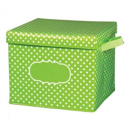 12 x 13 x 10.5 in. Pola Dot Storage Bin with Lid, Lime - image 1 de 1