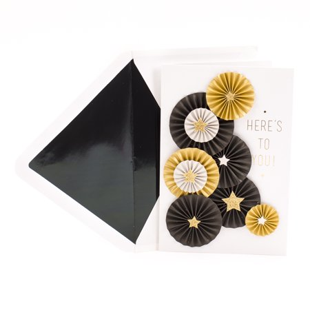 Hallmark Signature Graduation Card (Folded Paper Medallions With Gold Stars Celebrating (500 Folded Cards)