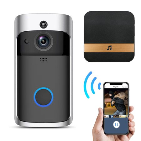 Wireless Wifi Doorbell, EEEKit Smart Wireless WiFi Video Doorbell Camera Rainproof Home Security Bell, Motion Detection, Real-Time Video and Two-Way Talk, Night Vision