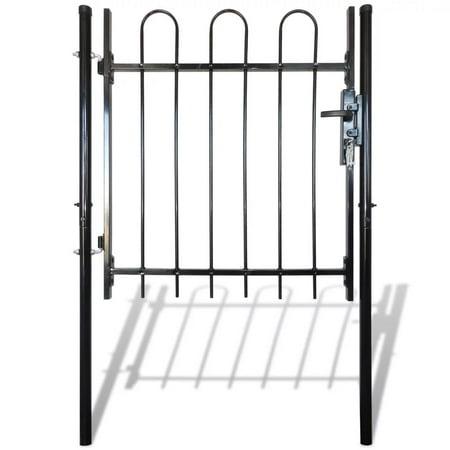 """Single Door Fence Gate with Hoop Top 39.4""""x47.2"""""""
