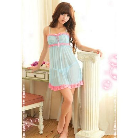 8b2937939b EFINNY - EFINNY Women Sexy Nightdress Nighties V-neck Nightgown Lace  Sleepwear - Walmart.com