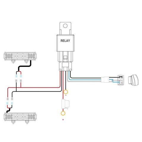 nilight led light bar 2pcs 4 inch 18w flood led off road lights with 12v  5pin rocker switch led light bar wiring harness kit , 2 years warranty -  walmart