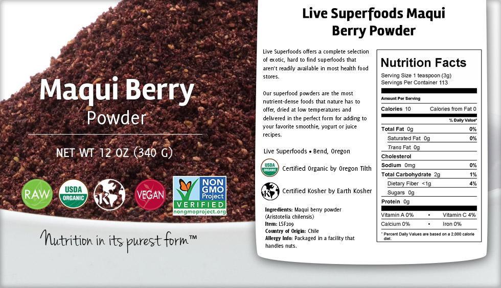 Live Superfoods Maqui Berry Powder Organic 4 Oz Walmart Com