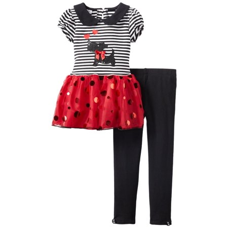 Girls Scottie Peter Pan Red Tutu Legging Set   FINAL SALE - Girls On Sale