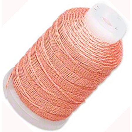 Simply Silk Thread Cord Size E Tangerine 0.0128 Inch 0.325mm Spool 200 Yards for Stringing Weaving - Knotted Silk Cord
