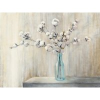 Cotton Bouquet Farmhouse Style Botanical Still Life Print Wall Art By Julia Purinton