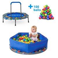 smarTrike Indoor Activity Center, Folding Trampoline & Ball Pit, 100 Balls incl.