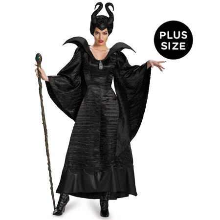 Maleficent Adult Costume (Maleficent Deluxe Christening Black Gown Adult Plus Costume - Plus)