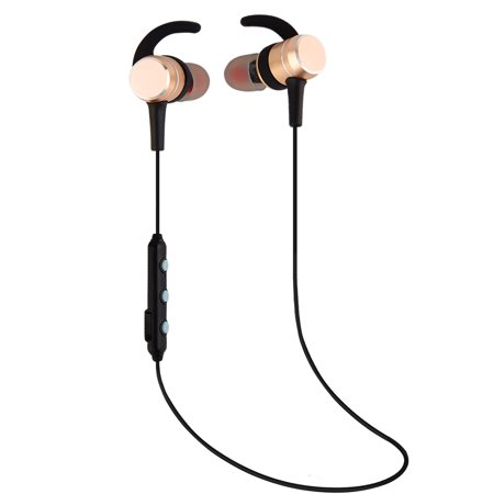 BE-A9 Bluetooth 4.2 Lightweight Stereo Earbuds, cjc Wireless running Headphones with Magnetic Connection, NANO Coating Sweatproof Sports Earphone Perfect for Sports/running/Gym/hiking/jogger Glod