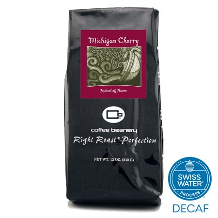 Cherry Coffee - Coffee Beanery Michigan Cherry Flavored Coffee SWP Decaf 12 oz. (Whole Bean)