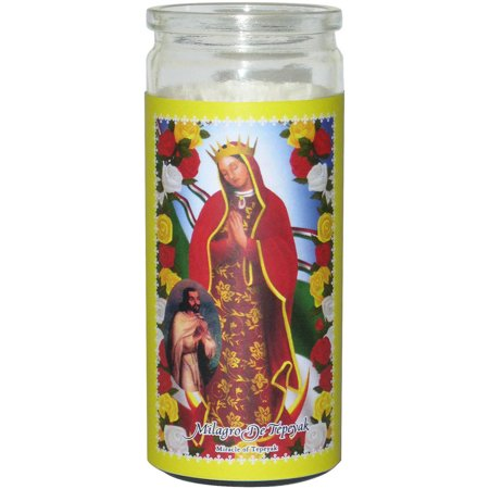 Small Miracle of Tepeyak Prayer Candle, Yellow](Candle Prayer)