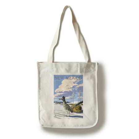 New Mexico - Roadrunner Scene - Lantern Press Poster (100% Cotton Tote Bag - Reusable) ()