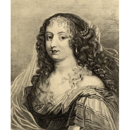 Madame De Sevigne (Marie De Rabutin-Chantal) 1626-1696 French Writer Photo-Etching From The Versailles Gallery From The Book  Lady JacksonS Works Old Paris Ii ItS Court And Literary Salons Published
