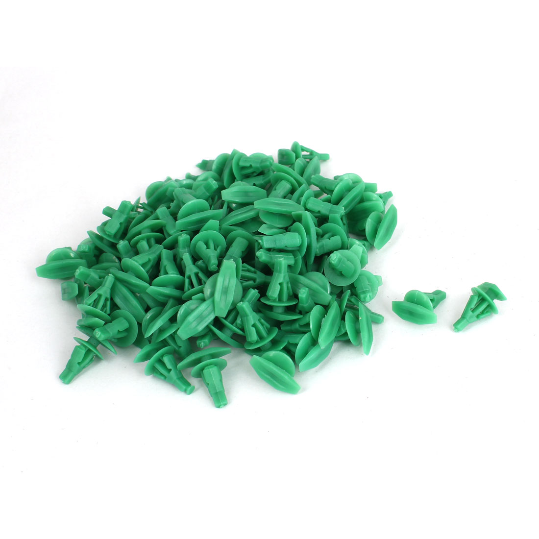 Unique Bargains 100 Pcs Green Plastic Rivet Trim Fastener Moulding Clips 7mm x 9mm x 11mm
