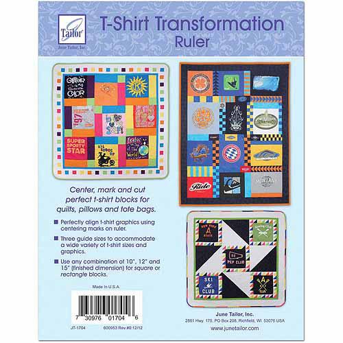 "June Tailor T-Shirt Transformation Ruler, 15-1/2"" x 15-1/2"""