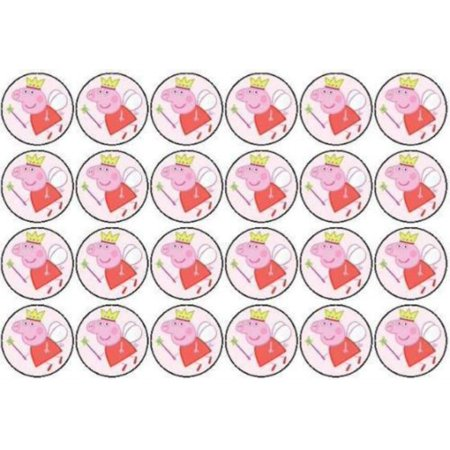24 PEPPA PIG EDIBLE PAPER CUPCAKE CUP CAKE DECORATION IMAGE - Peppa Pig Cake Toppers