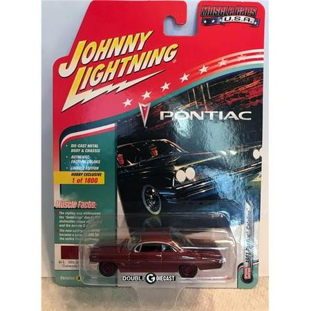 Johnny Lightning 1:64 Scale Red 1961 Pontiac Catalina