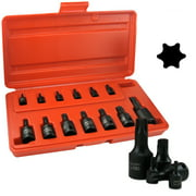 13 Pc Impact Star Socket Bit Torx Set Pro Tools T10 - T60