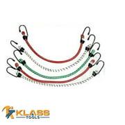 "18"" Inch Elastic Tie Down (Bungee Cord) (4 Bungees)"