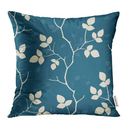 ARHOME Blue Geometric Green Nature Floral Retro Tree Silhouette Twig Vintage Pillowcase Cushion Cases 18x18 inch