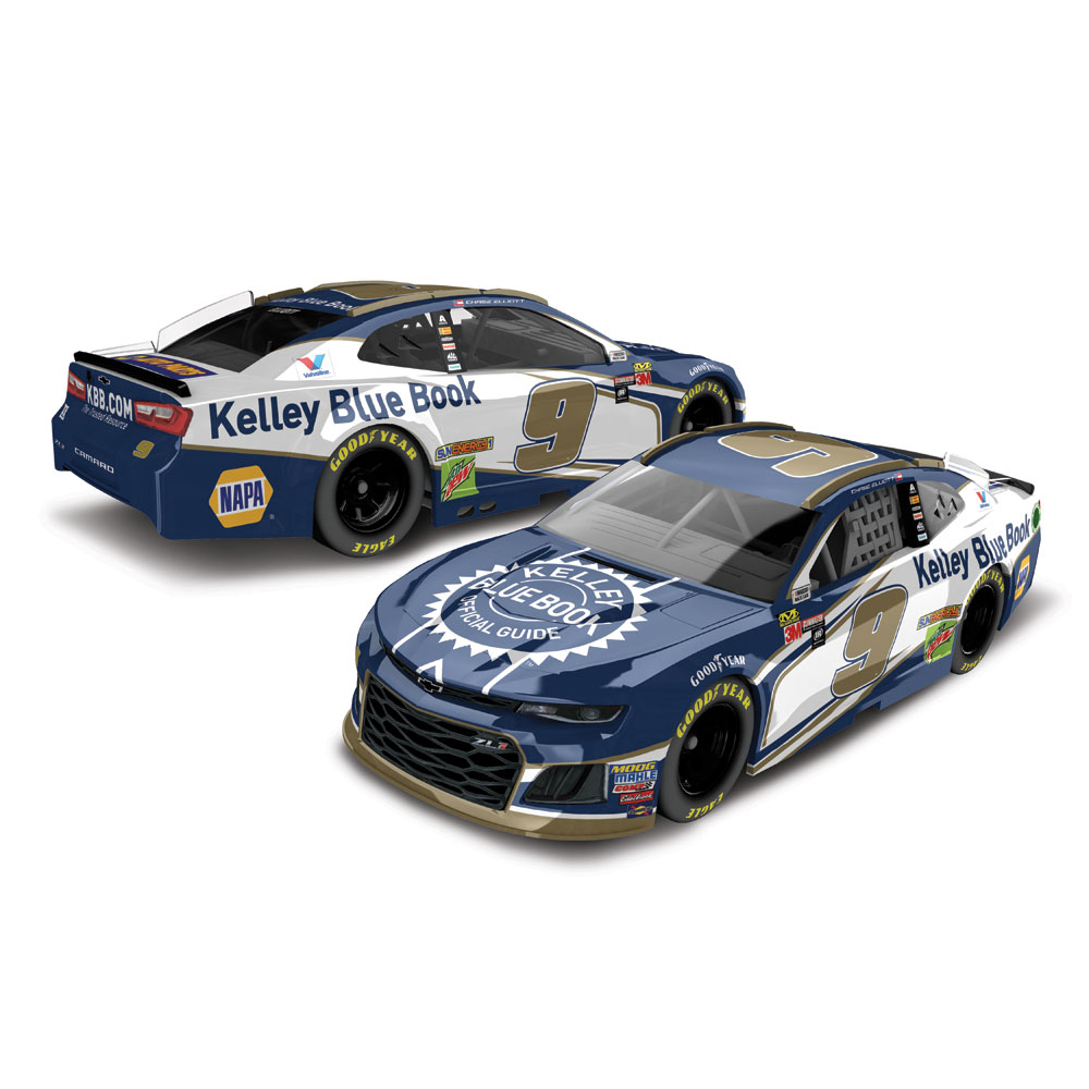Chase Elliott Action Racing 2018 #9 Kelley Blue Book 1:64 Monster Energy NASCAR Cup Series Die-Cast Chevrolet Camaro ZL1 - No Size