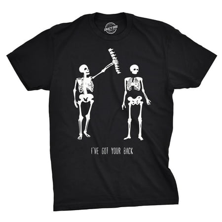 Mens Got Your Back Funny Halloween Skeleton Best Friend T (Men With Female Best Friends)