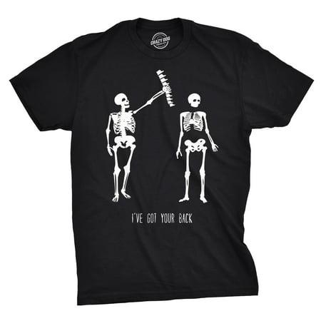 Skeleton T Shirts (crazy dog tshirts - mens got your back funny skeleton best friend halloween t)