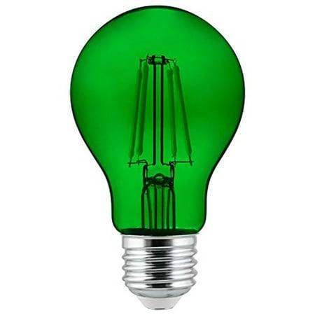 Sunlite Green A19 LED 4.5W E26 Medium Base Filament Bulb