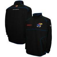 Kansas Jayhawks Aero Quarter-Zip Pullover Jacket - Black