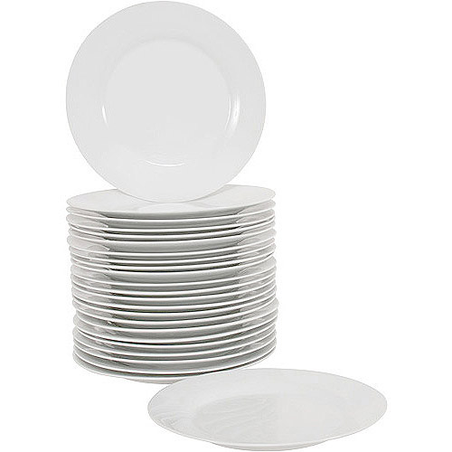 10 Strawberry Street 10.5\  Round Dinner Plates Set of 24 White  sc 1 st  Walmart & 10 Strawberry Street 10.5\