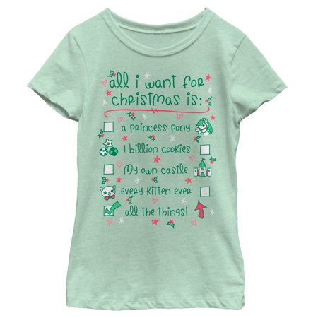 girls want for christmas all the things t shirt walmartcom - What Girls Want For Christmas