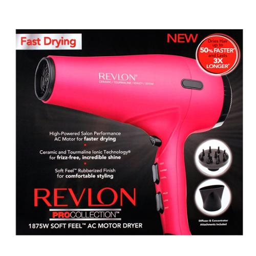 Revlon Pro Hair Dryer - 1875 W - Ionic - Ac Supply Powered (rvdr5141pnk)