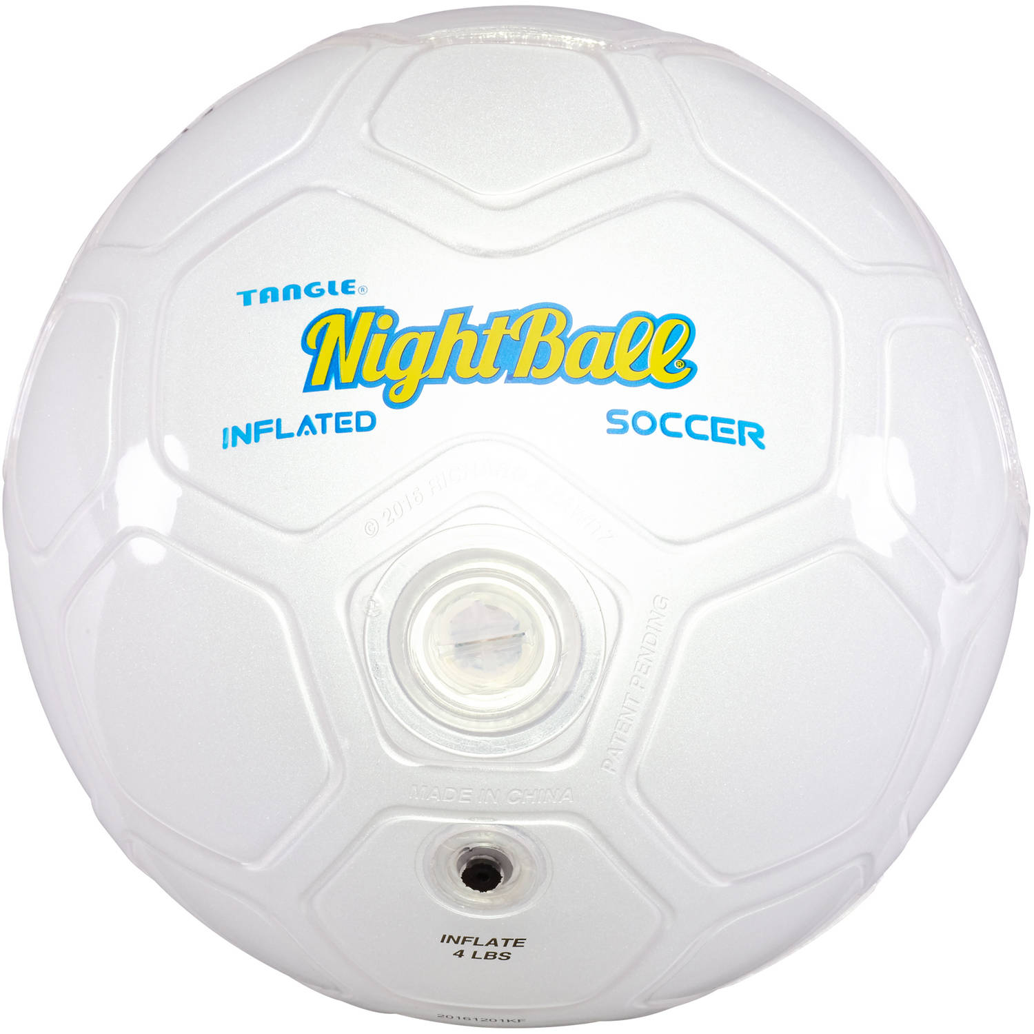 Tangle Night Soccer Ball, Size 5, White by Tangle Creations