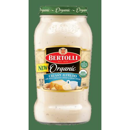 Bertolli Organic Creamy Alfredo with Aged Parmesan Cheese Pasta Sauce 15 oz.