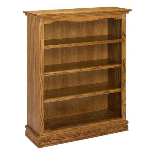 Americana Hardwood Solid Bookcase (Medium Oak)
