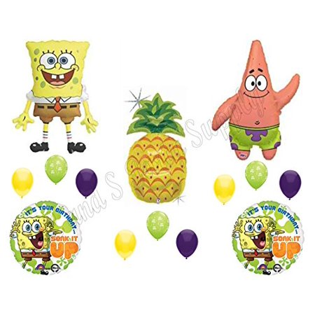 14pc SPONGEBOB AND PATRICK BIRTHDAY PARTY Balloons Decorations Supplies - Patrick Balloon