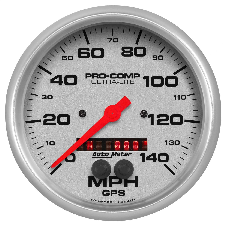 AUTO METER 4481 5IN GPS SPEEDOMETER, 140MPH, ULTRA-LITE