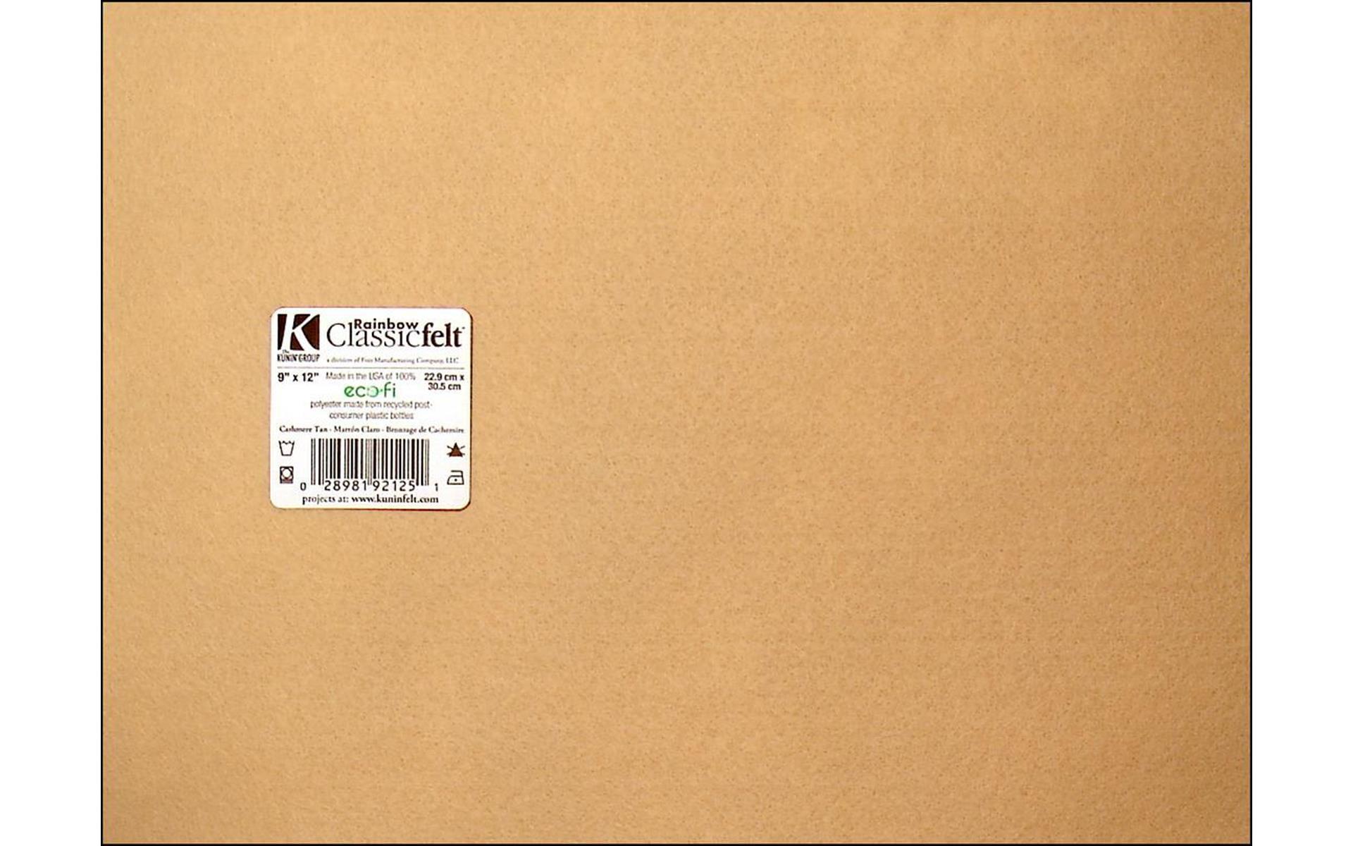 Kunin 9 X 12 Adhesive Felt 12 Pack Cashmere Tan
