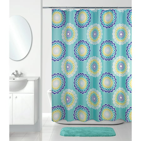 Atomic Circle Shower Curtain Mint Green - Allure Home Creation